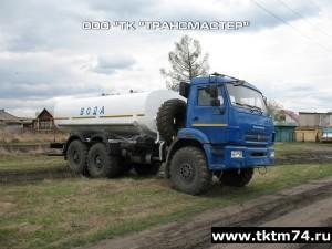 АЦПТ 10м3 2-ва отсека с насосом НЦС-50 на шасси КАМАЗ 43118 (1)