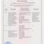 Приложение к сертификату соответствия на ТО и ремонт 2