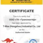 Сертификат T-Max (Hangzhou)