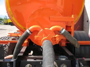 Подогрев сливного люка от системы выхлопных газов Шасси