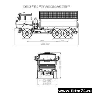 Автомобиль-самосвал 58312H, 58312M шасси Урал 55571-4551-78, -80, -82