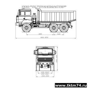 Автомобиль-самосвал-58312L-на шасси Урал 55571-4551-78, -80, -82