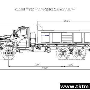 Автомобиль-самосвал 58312S на шасси Урал 4320-6951