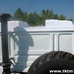 доработка кранового шасси. Понижение бескапотной кабины на 2 градуса под стрелу (3)